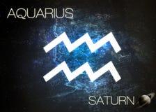 Zodiaka znak - Aquarius fotografia stock
