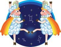 Zodiaka znak w postaci dancingowych cakli Zdjęcia Stock