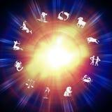 Zodiakbakgrund Royaltyfri Bild