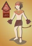 Zodiakman: Lejonet Arkivbild