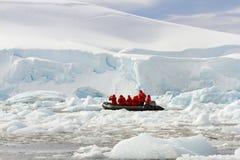 Zodiakruisers in Antarctica Royalty-vrije Stock Fotografie