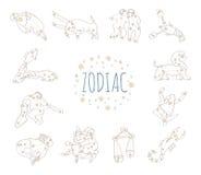 Zodiaktecken 12 Arkivbild