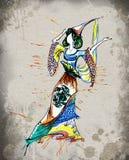 Zodiaktecken av cancer som härliga flickor stock illustrationer