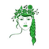Zodiaktecken av Jungfru Royaltyfri Foto