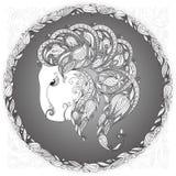 Zodiaktecken Capricornus stock illustrationer