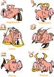 Zodiaktecken för horoskopet royaltyfri illustrationer