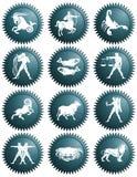 Zodiaków znaki Obraz Royalty Free