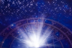 Zodiaque avec des étoiles Photos libres de droits
