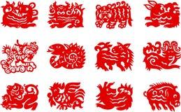 Zodiaque chinois Photos libres de droits