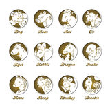 Zodiaque chinois illustration de vecteur