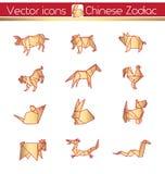 Zodiaque chinois Images libres de droits