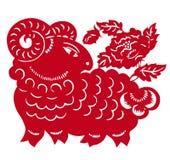 zodiaque chinois d'an de moutons illustration libre de droits