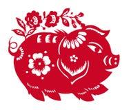 zodiaque chinois d'an de porc Photo libre de droits