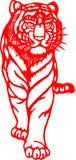 Zodiaque chinois d'an de tigre Image stock