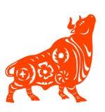 zodiaque chinois de boeuf Images stock