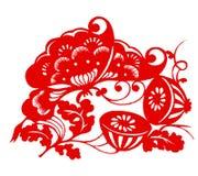 zodiaque chinois de lotus illustration libre de droits