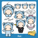 Zodiaque chinois - rat illustration stock