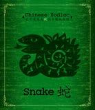 Zodiaque chinois - serpent Image libre de droits