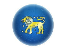 zodiaque d'or de signe de Lion Illustration Stock