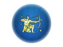 zodiaque d'or de signe de Sagittaire Illustration Stock