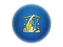 zodiaque d'or de signe de Sagittaire Illustration Libre de Droits