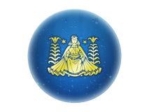 zodiaque d'or de Vierge de signe Illustration Libre de Droits