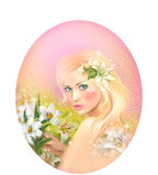 Zodiaque d'horoscope - fille de beautifulbn de portret de Vierge d'imagination Images libres de droits