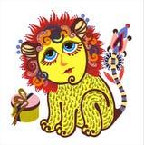 zodiaque de 2 Lions Photos stock