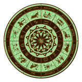 zodiaque de roue d'horoscope Image stock