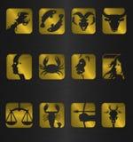 zodiaque de symboles de graphisme Photo libre de droits