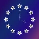 zodiaque des symboles douze de signe de conception de dessin-modèles divers Images libres de droits