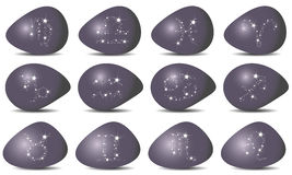 Zodiaque - ensemble de signes Photo libre de droits