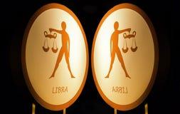 Zodiaque la nuit images libres de droits