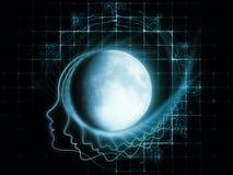 Zodiaque lunaire Image stock