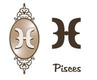 Zodiaque - Poissons Image stock