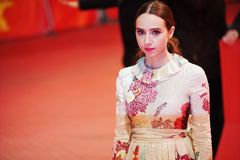 Zoe Kazan attends the `The Kindness Of Strangers royalty free stock images