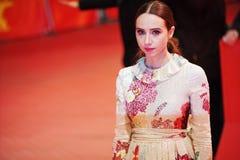 Zoe Kazan deltar i 'vänligheten av främlingar royaltyfria bilder