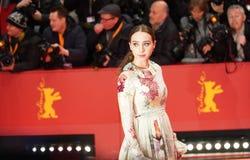 Zoe Kazan deltar i 'vänligheten av främlingar royaltyfri fotografi