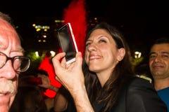 Zoe Konstantopoulou president av den hellenska parlamentet, gree Arkivfoton