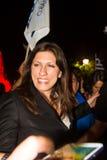 Zoe Konstantopoulou president av den hellenska parlamentet, gree Royaltyfri Foto