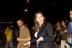 Zoe Konstantopoulou president av den hellenska parlamentet, gree Royaltyfri Fotografi