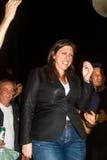 Zoe Konstantopoulou, Voorzitter van het Helleense Parlement, gree Royalty-vrije Stock Fotografie