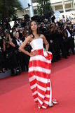 Zoe Saldana. CANNES, FRANCE - MAY 16: Zoe Saldana attends 'The Tree Of Life' premiere during the 64th Annual Cannes Film Festival at Palais des Festivals on May royalty free stock photo