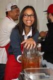 Zoe Saldana. At LA Mission Homeless Thanksgiving, Los Angeles Mission, Los Angeles, CA 11-23-11 Royalty Free Stock Photo