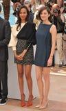 Zoe Saldana & Marion Cotillard Stock Photos