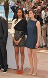 Zoe Saldana & Marion Cotillard Royalty Free Stock Photos
