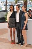 Zoe Saldana & Marion Cotillard & Guillaume Canet Stock Photos