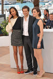 Zoe Saldana & Marion Cotillard & Guillaume Canet Royalty Free Stock Images