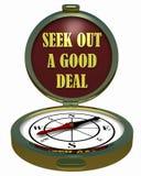 Zoek heel wat kompas uit -? Stock Afbeelding