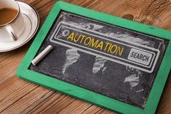Zoek naar automatiseringsconcept royalty-vrije stock afbeelding